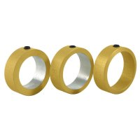 Herdim System Calibrated Stop Rings for Endpin Reamers, 3-Piece Set for Cello
