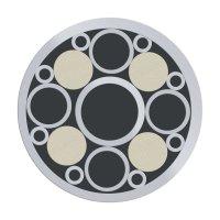 Mosaic Pin, Stainless Steel, Ø 9.5 mm, Nr. 9