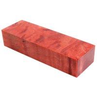 Raffir Stabilisierte Pappel, geflammt, rot