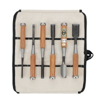 Oire Nomi, Chisel, 6-Piece Set in a Cotton Tool Roll