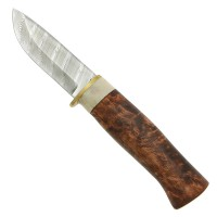 Hunting Knife »Damask«, Striped Damascus