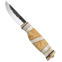 Wood Jewel Hunting Knife Willow Gouse