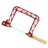 Knew Concepts Coping Saw, Heavy Duty, with Swivel Blade, Jaw depth 125 mm
