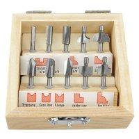 Miniature HSS Router Bits, 10-Piece Set