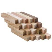Pen Blanks Assortment, European Wood Species, 20-Piece Set