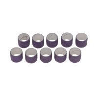 Manchons abrasifs pour tambour de ponçage en caoutchouc, 10 pièces, grain 80