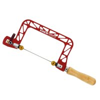 Knew Concepts Coping Saw, Heavy Duty, with Swivel Blade, Jaw depth 75 mm