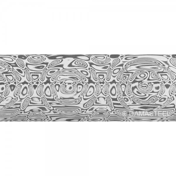 Acero de Damasco Damasteel DS93X Draupner, 51 x 3.2 x 250 mm