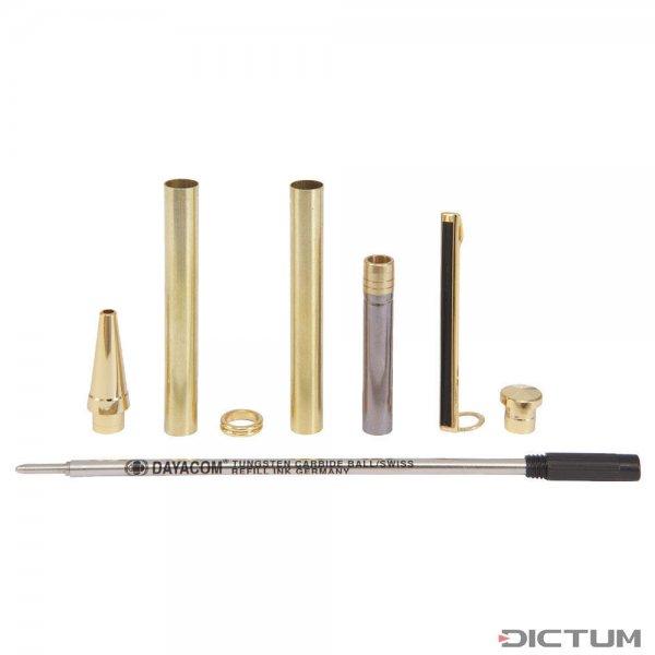 Kit di montaggio penna a sfera Paris, oro, 1 pezzo
