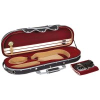Rome Kofferetui, Violin 4/4, schwarz/rot-beige