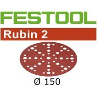 Festool Sanding Discs RUBIN 2 STF D150/48 P120 RU2/10