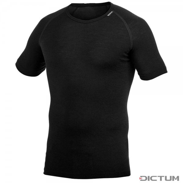 Woolpower Lite Tee, black, Short Sleeved, XS