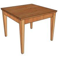 Beistelltisch aus Massivholz in klassischem Design
