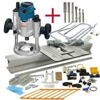 SET: WoodRat WR900, Fräsersatz 1, Tauchgriff C/F, Bosch GOF 1600 CE