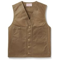 Filson Oil Tin Cloth Vest, Dark Tan, Größe S
