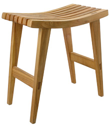 Stool with tapered legs