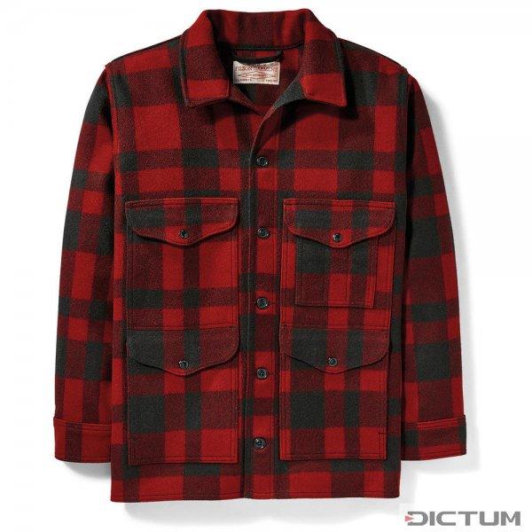 Filson Mackinaw Wool Cruiser, Red/Black Plaid, Größe M