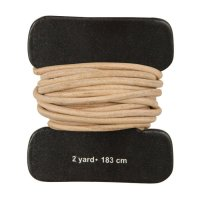 Cow Leather Lace, Round, Natural, 1.8 m