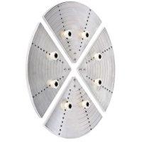 Сегменты планшайбы Axminster с 8 эластичными цапфами, Ø 400 мм