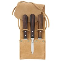 Inlay and Carving Knives, 3-Piece Set with Pouch