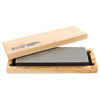 DMT Whetstone Bench Stone in Practical Wooden Box, Width 67 mm, Extra-coarse