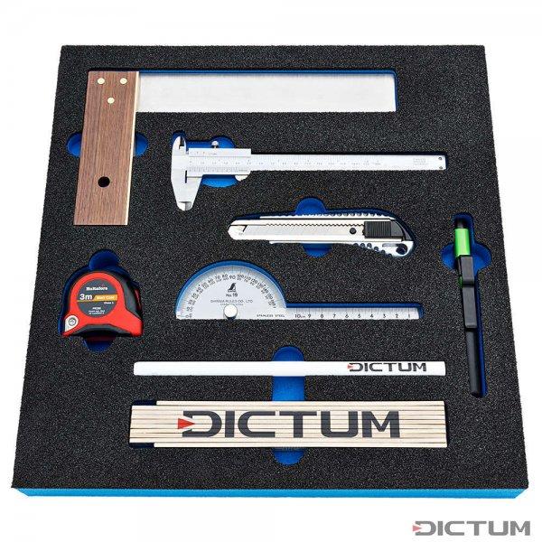 Moduł narzędziowy DICTUM, narzędzia pomiarowe, 8-częściowy