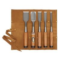 Ciseaux à bois pour charpentier, acier rapide, jeu de 5 pièces