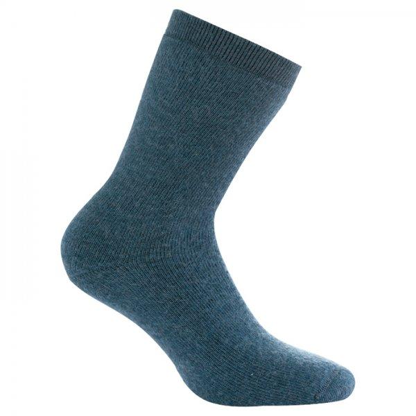 Спортивные носки Woolpower Logo, серо-синие, 400 г/м², размер 36-39
