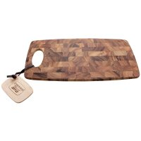 Tagliere e vassoio in uno, in legno di acacia a fibre trasversali