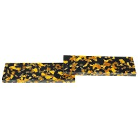Acrylic Handle Scales, Amber/Black
