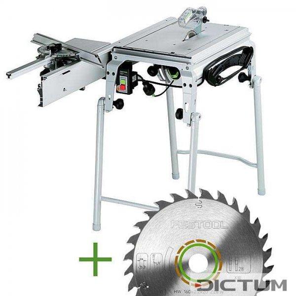 SET: Festool Tischsäge CMS-TS 55 R-Set + extra Universal-Sägeblatt W28