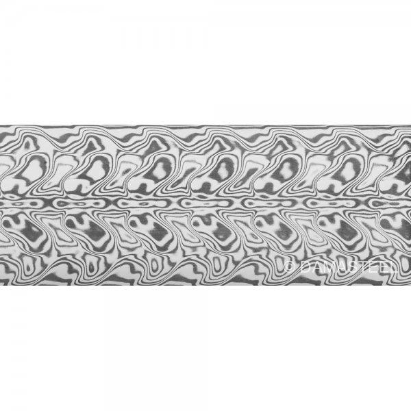 Damasteel DS93X Gysinge Damascus Steel, 32 x 2.5 x 210 mm