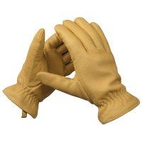 Sensitive-grip Elk Leather Gardening Gloves, Lined, Size 9