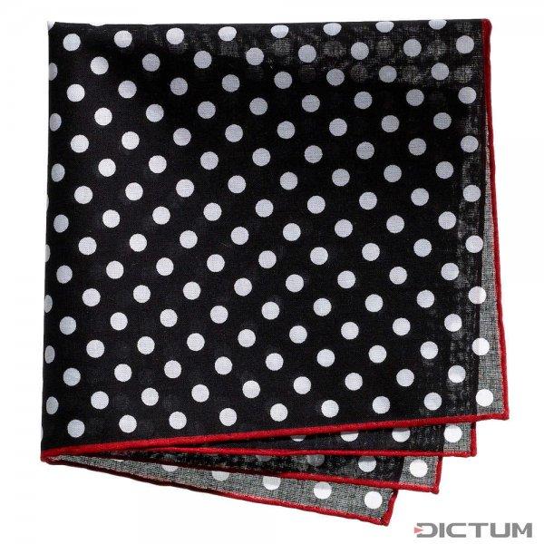 Taschentuch mit Polka Dots, Baumwolle, schwarz