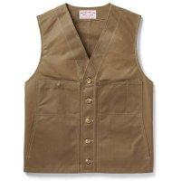 Filson Oil Tin Cloth Vest, Dark Tan, taille S