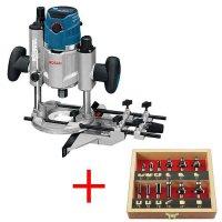 Fresatrice verticale Bosch GOF 1600 CE Professional con set di frese, 12 pz