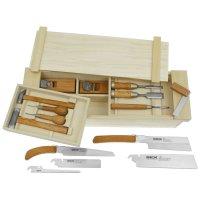 Caisse à outils japonaise, garnie, 15 pièces