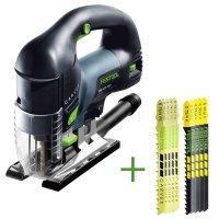 SET: Festool Scie sauteuse CARVEX PSB 420 EBQ-Plus + 10 lames de scie sauteuse