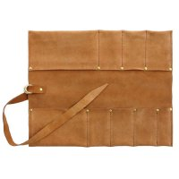 Leather Tool Roll, 6 Pockets