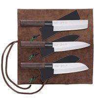 Saku Hocho with Wooden Sheath, 3-Piece Set