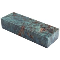 Raffir Stabilised Poplar Burl, Blue