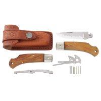 Kit de montage de couteau pliant Hiro Suminagashi, bois de fer du désert