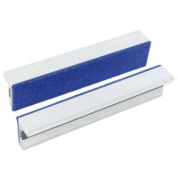 York Magnetic Protective Jaws, 100 mm, Aluminium with Felt Padding