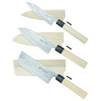 Hayashi Hocho, with Wooden Sheath, 3-Piece Set
