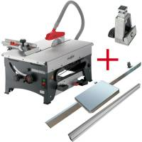 SET: MAFELL ERIKA 85 Ec with Sliding Table, Fence Guide 1000 mm and Drop Stop