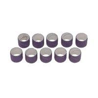 Manchons abrasifs pour tambour de ponçage en caoutchouc, 10 pièces, grain 120