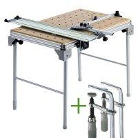 Festool Multifunction Table MFT/3 + 2 Fastening Clamps FSZ 120