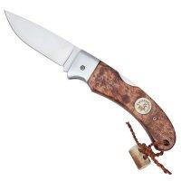 Couteau pliant bouleau madré brun, grand